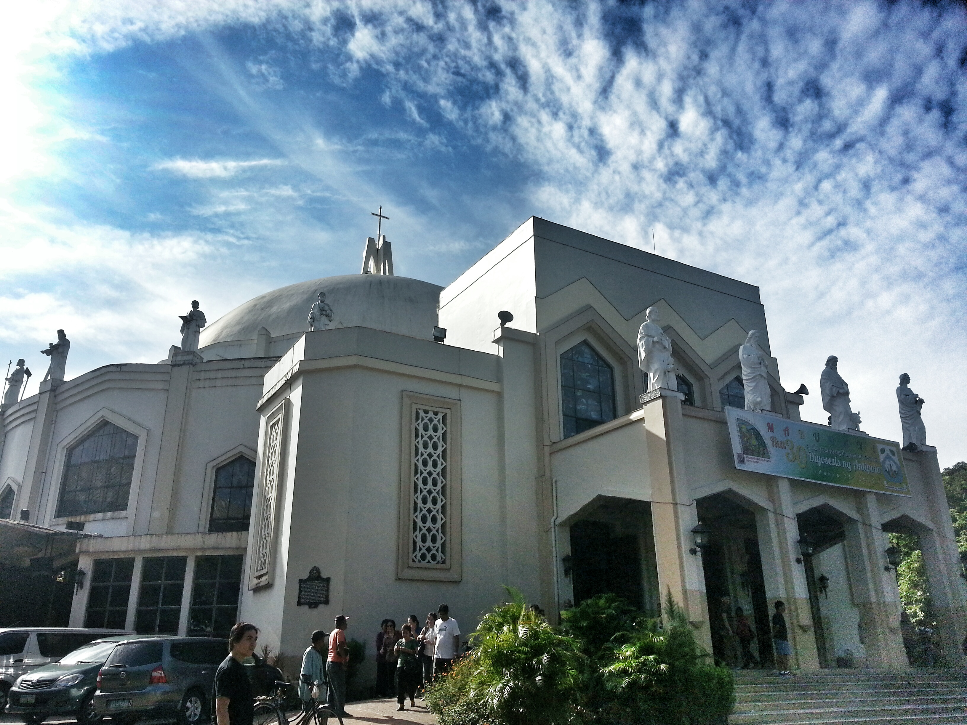 Image result for bike parking in Antipolo Cathedral
