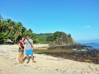 At Diguisit Beach