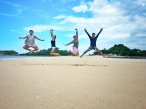 Jump Shot at Bantigue Sandbar